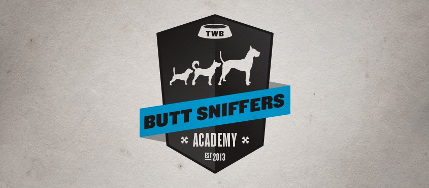 Butt Sniffers Academy Logo for The Watering Bowl Doggy Daycare Obedience Classes