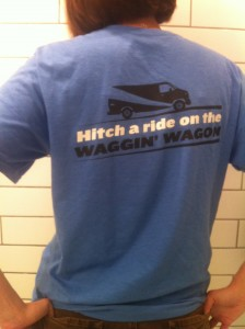 The back of the Waggin' Wagon Tee