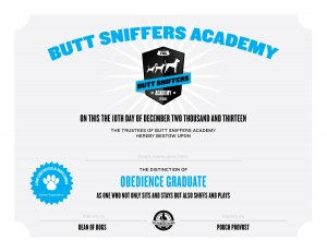 Butt Sniffers Academy Diploma