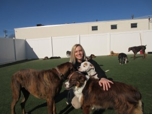 Brittany loves it at The Watering Bowl, and the dogs love having her.