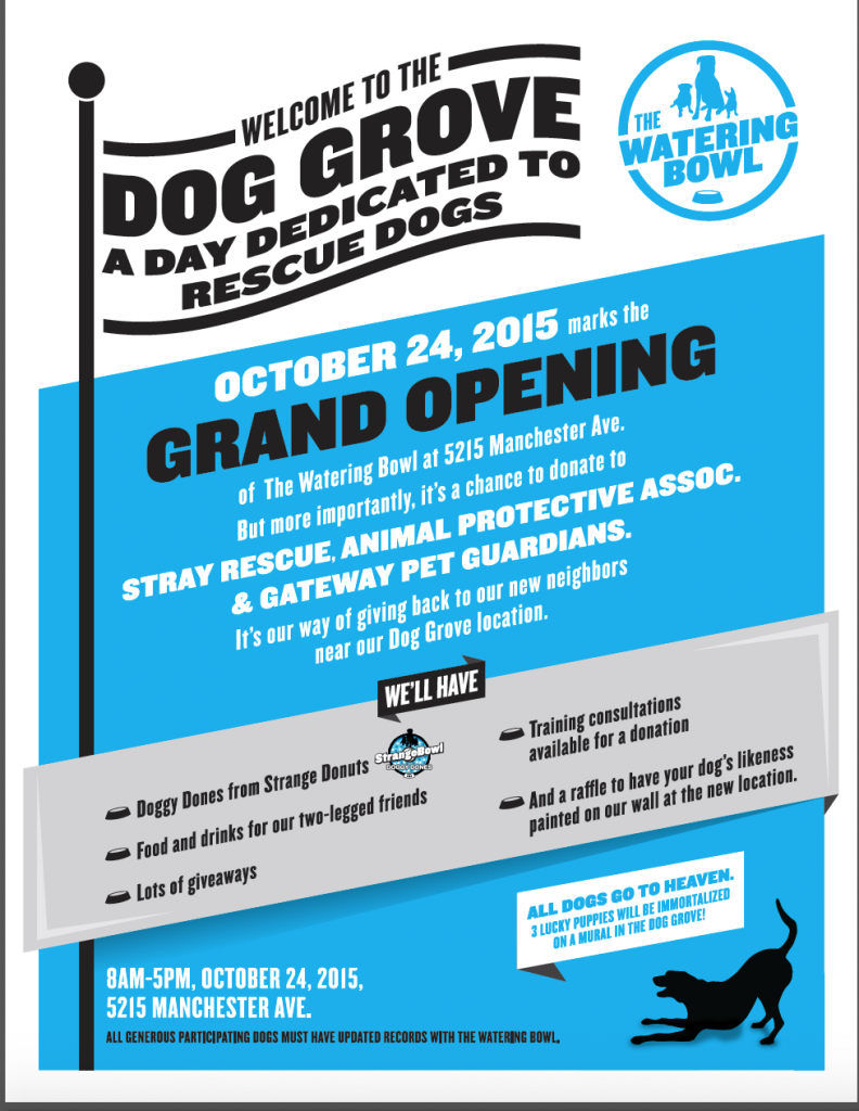 The Watering Bowl Dog Grove Grand Opening