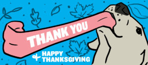 dog Happy Thanksgiving thank you illustration